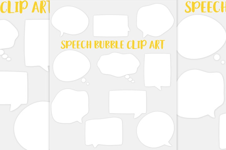 Speech bubble clipart set