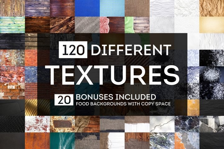 Big bundle of 120 different textures and backgrounds