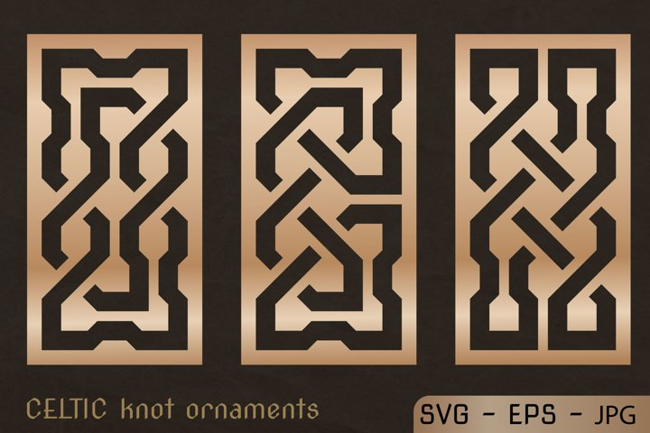CELTIC knot ornaments set. Laser CUTTING stencil.