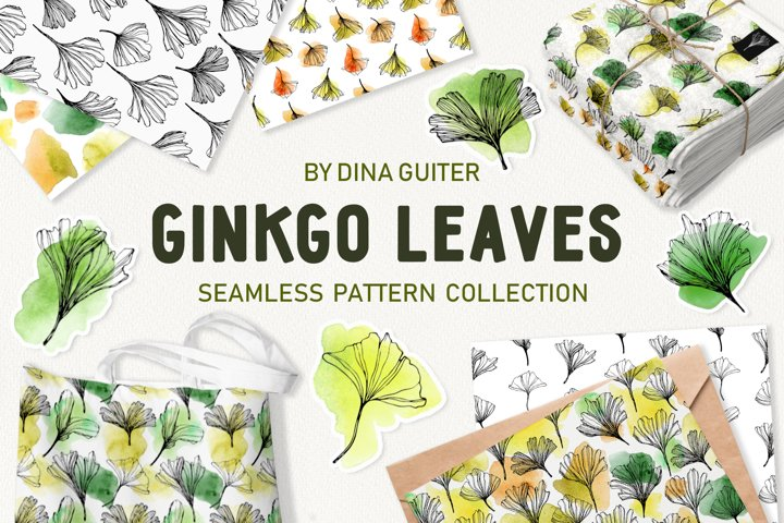 Ginkgo Leaves Pattern Collection