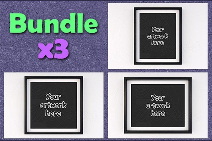 Basic matted frame mock ups BUNDLEx3