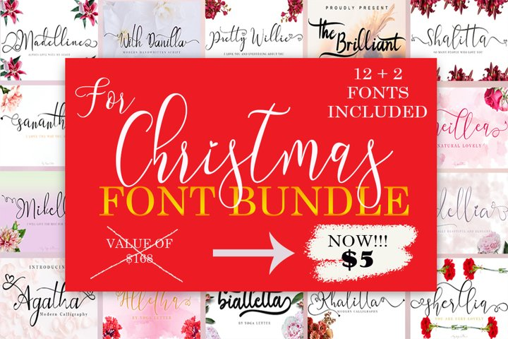 For Christmas Font Bundle