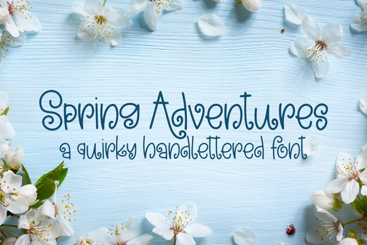 Spring Adventures - A Quirky Hand-Lettered Font