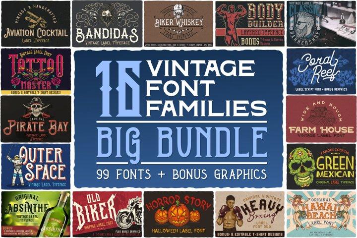 16 Font Families Bundle