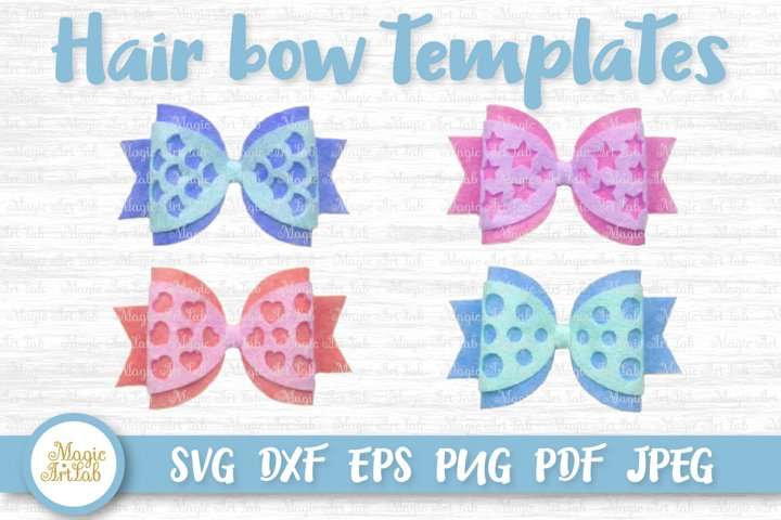 Hair bow svg, Hair bow template, Mermaid hair bow svg file