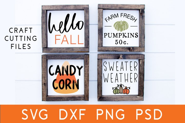 Fall Sign Bundle | Autumn SVG | Fall SVG Bundle | Cut File