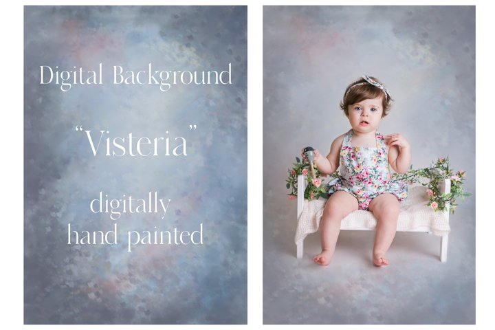 Visteria - hand painted digital background, vintage style