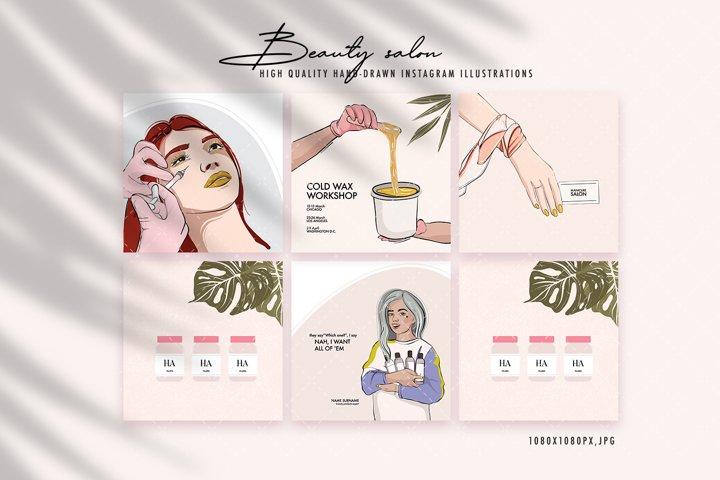 Beauty salon Instagram story post, Makeup, Cosmetology