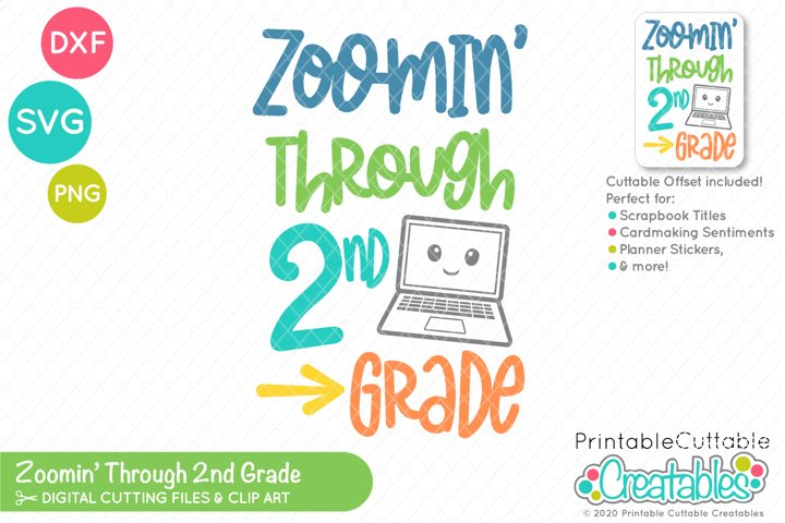 Zoomin Through 2nd Grade SVG