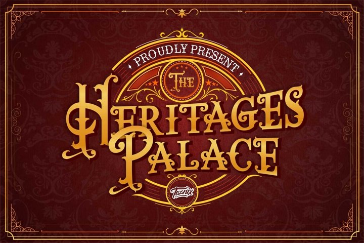 The heritages Palace Vintage Typeface