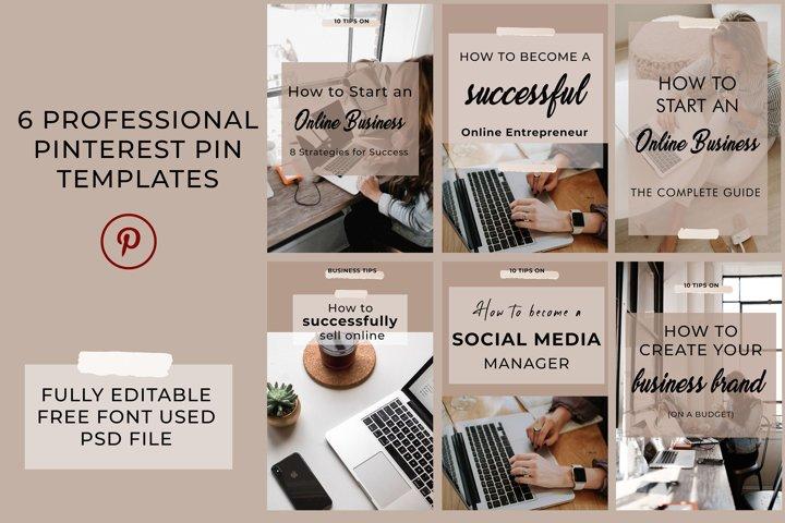 Professional Pinterest Templates - Fully Editable Templates