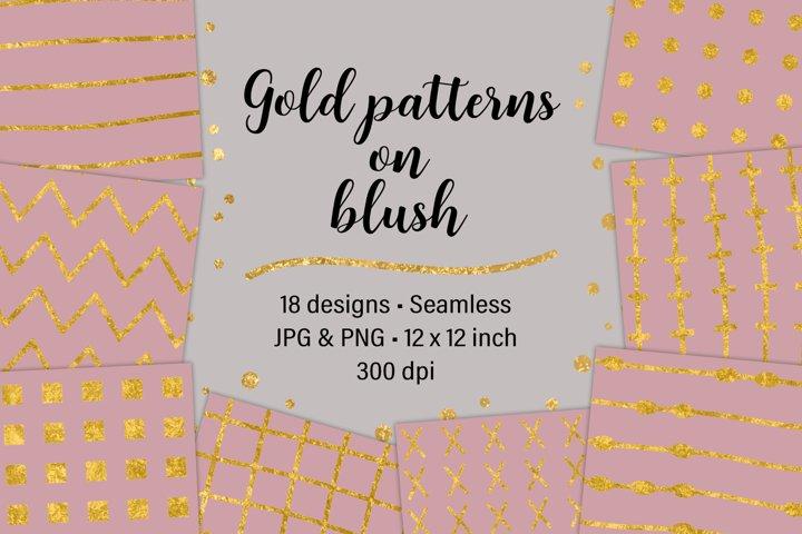 Gold Patterns on Blush
