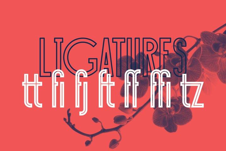Sansterdam Inline & Outline - Free Font Of The Week Design0