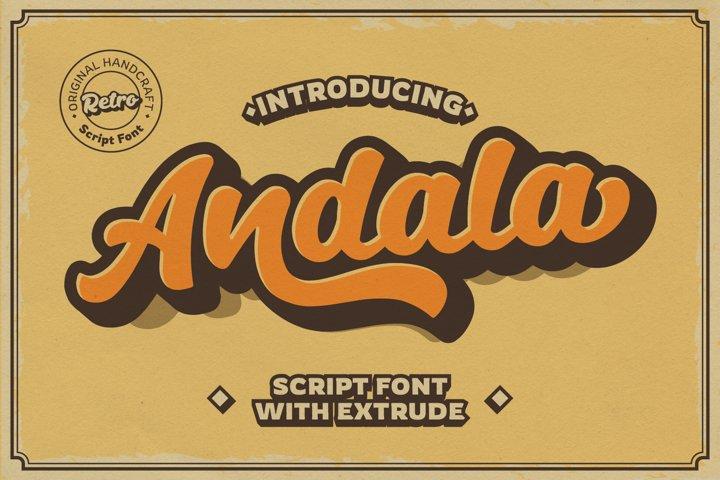 Andala - Retro Script Font example