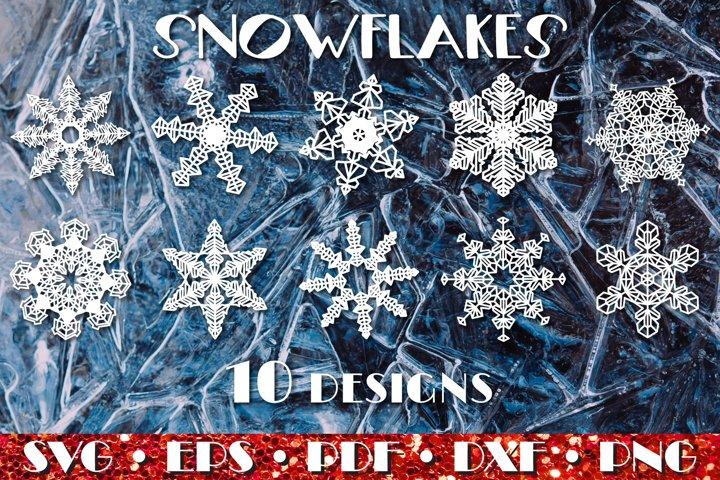 Snowflakes 10 designs