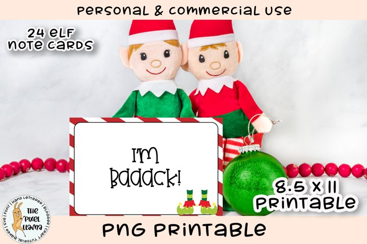 Elf Note Cards Printable