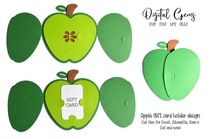 Apple gift card holder design SVG / EPS / DXF files