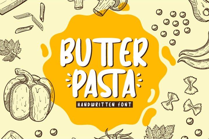 Butter Pasta - Handwritten Font