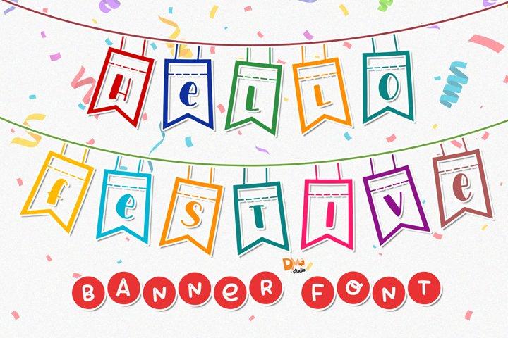 Hello Festive - Banner Font