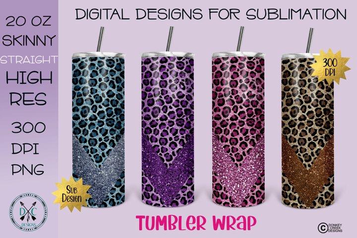 Skinny Tumbler Wrap Leopard PNG Bundle Sublimation Designs