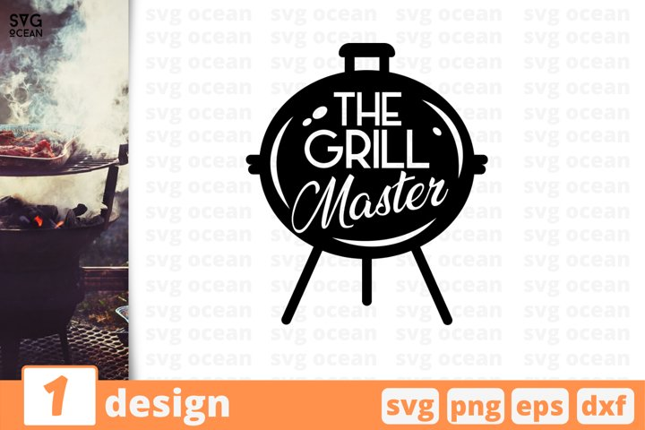 The grill master BBQ svg cut file, barbecue printable