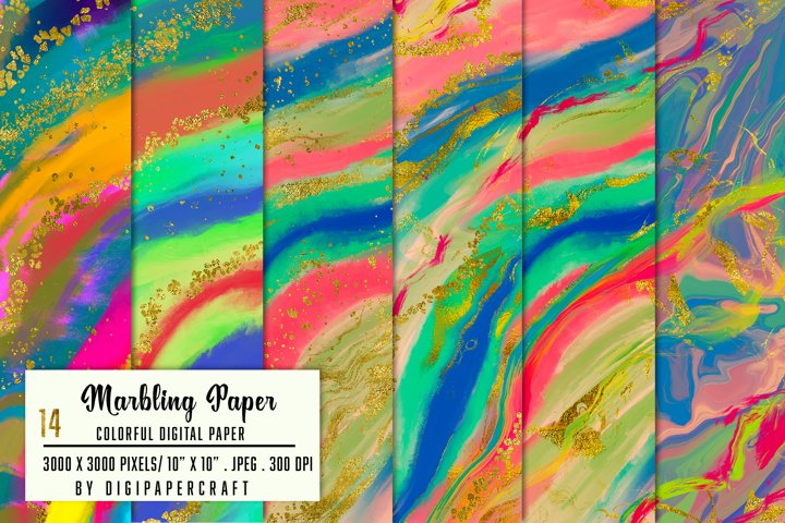 Marbling Digital Background, Colorful marble, Marbling paper
