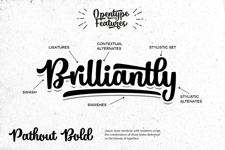 Pathout Script - Free Font of The Week Design1