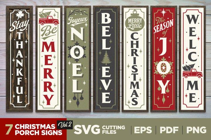 Christmas Porch Signs   Vol. 2   Vertical Signs   SVG Bundle