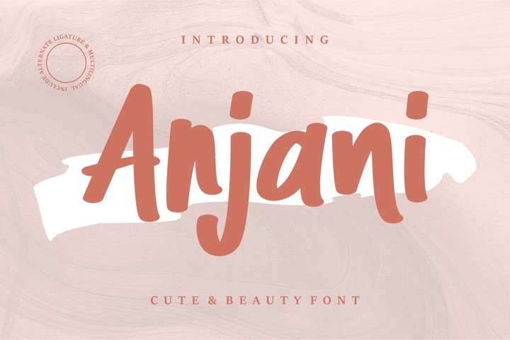 Anjani - Cute & Beauty Font