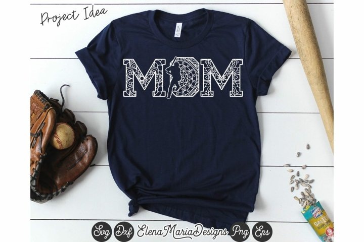 Baseball Mandala SVG File | Mom Mandala Svg