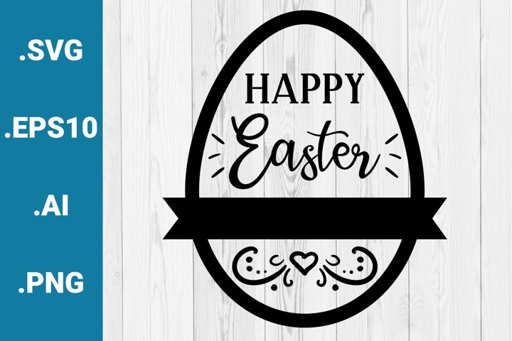 Happy Easter Greetings SVG quote