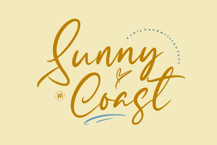 Sunny Coast - A Chic Handwritten Font