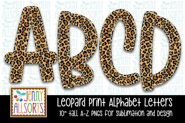 Leopard Print Alphabet Letters Bundle - Sublimation Clipart