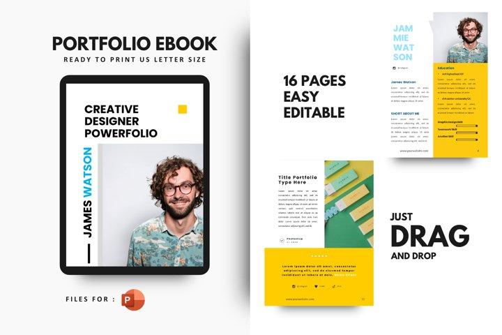 Pro graphic designer portfolio template powerpoint