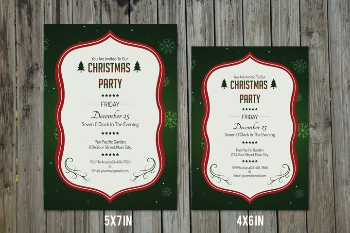 Christmas Party Flyer , MS Word & Photoshop template