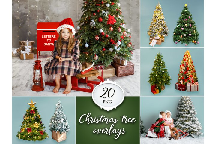20 Christmas Tree Overlays