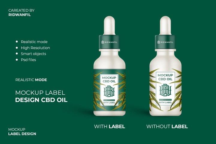 Mockup Label Design CBD Oil