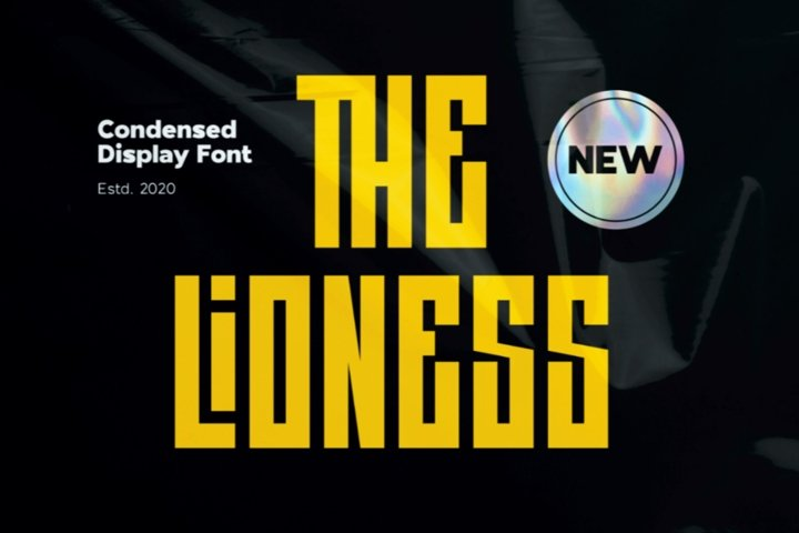 The Lioness - Condensed Display Font