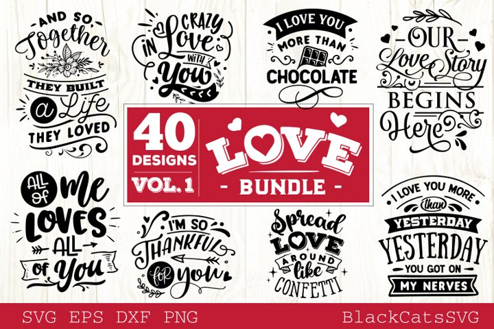 Love Bundle vol 1 Love SVG 40 designs