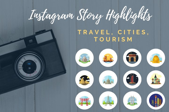 Instagram Story Highlights- Travel, Tourism, Cities