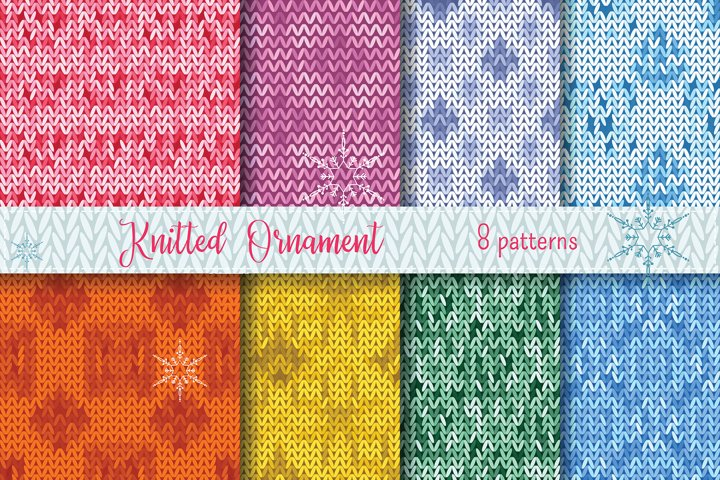 Christmas Vector knitted pattern background
