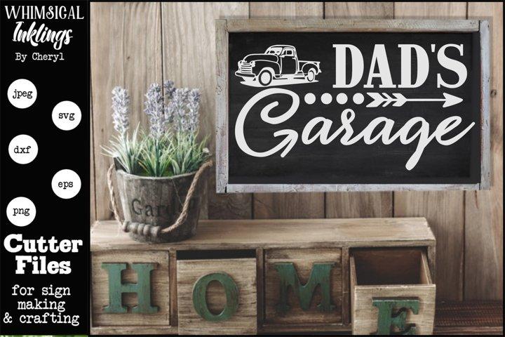Dads Garage 8 SVG