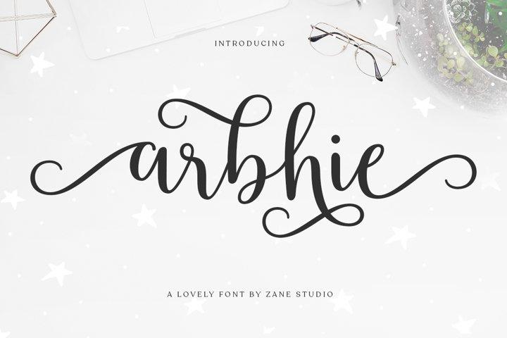 Arbhie Script