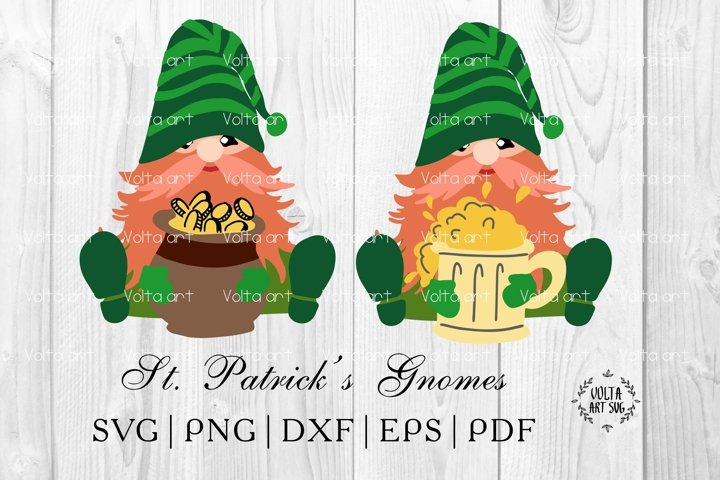 St. Patricks day Gnomes SVG. Gnome Bundle. Lucky Leprechaun