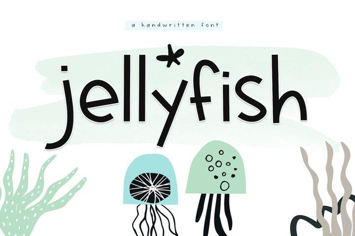 Jellyfish - A Fun Handwritten Font - Free Font of The Week Font