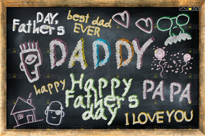 Overlay Fathers day Sidewalk Chalk art