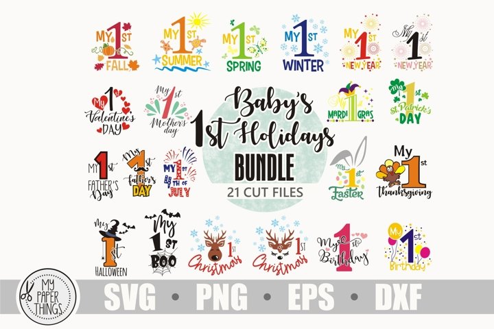 Baby svg bundle, Baby first holidays svg bundle, My 1st svg