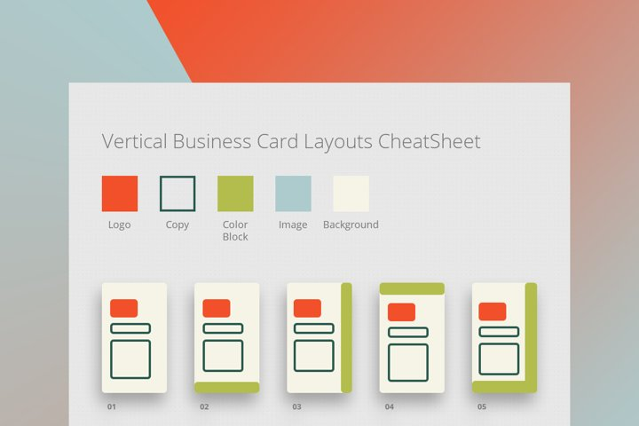 285 Business Card Layouts CheatSheet