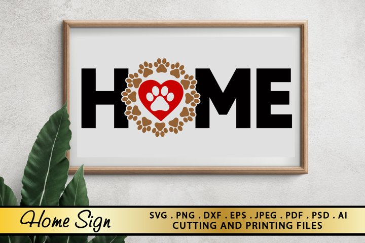 DOG - HOME SIGN SVG PNG EPS DXF for Cutting and Printing