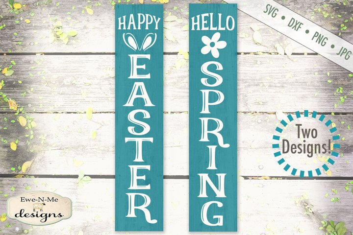 Happy Easter - Hello Spring - Vertical SVG Cut File